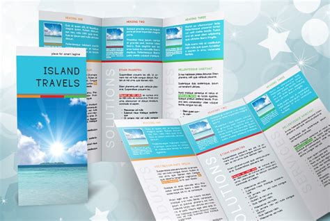 indesign tri fold brochure template free