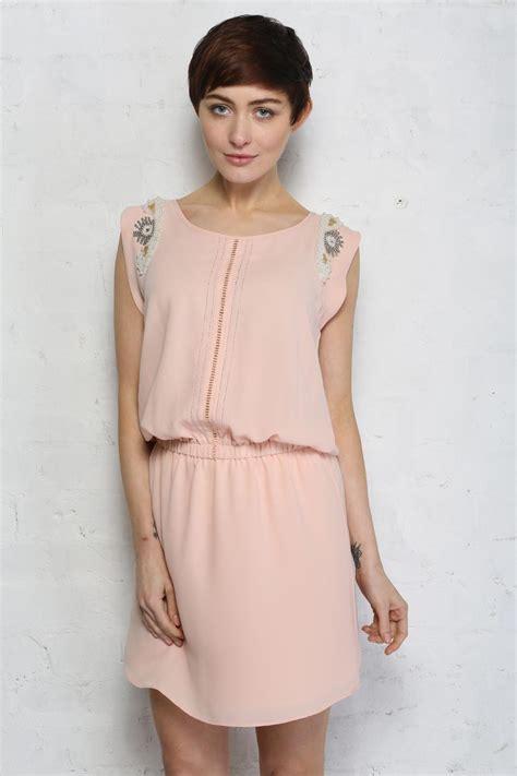Rok Sogan Pink Classic Nu 01 pale pink flapper dress daphnea
