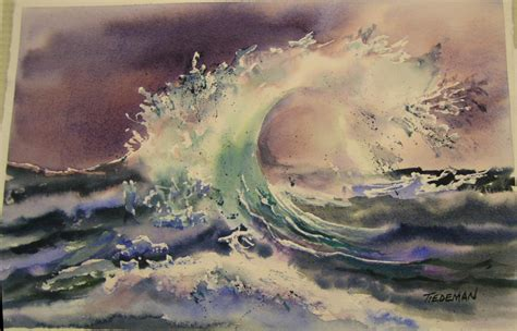 painting and watercolor class with tom tiedeman