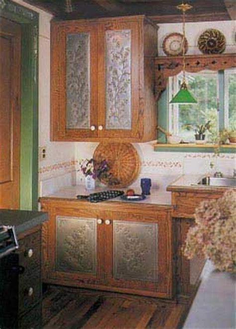 Kitchen Cabinets With Tin Inserts Fanciful Folk Collection Pierced Metal Cabinet Inserts By Country Accents