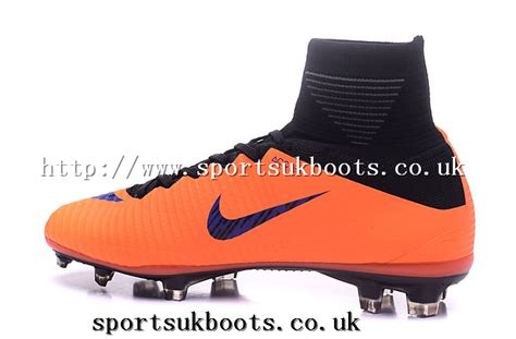 sports direct shoes sale nike mercurial superfly v fg orange blue black firm