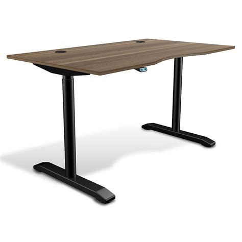 Sit Stand Modern 55x32 Adjustable Walnut Desk Eurway Sit Stand Adjustable Desk