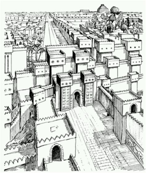 coloring pages hanging gardens of babylon babylon ancient pinterest