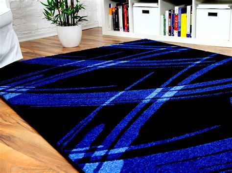 teppich blau schwarz designer teppich schwarz blau in 5 gr 246 223 en