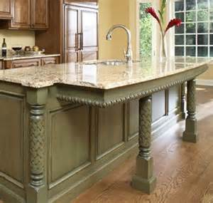 Kitchen Island With Columns Specialty Millwork