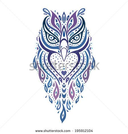 tribal pattern owl tribal owl stock images royalty free images vectors