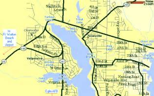 map of northwest florida cities parsons associates area map