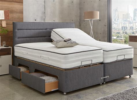 Bed Adjustable by Westwood Mattress With Premium Slate Adjustable Divan Bed Medium Firm Dreams