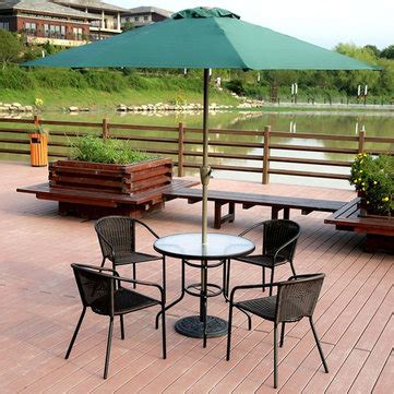 courtyard patio furniture garden courtyard rattan chair glass table with umbrella outdoor furniture patio dining set at