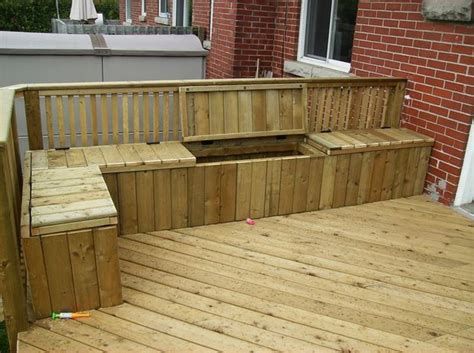 wooden deck benches best 25 outdoor storage benches ideas on pinterest