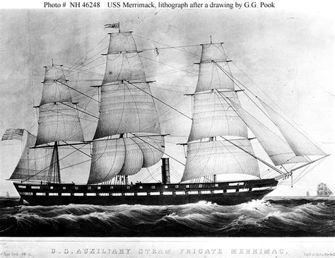 definition boat bark usn ships uss merrimack 1856 1861