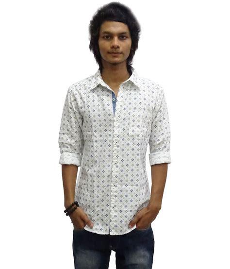 zara white printed cotton sleeve casual shirt buy zara white printed cotton