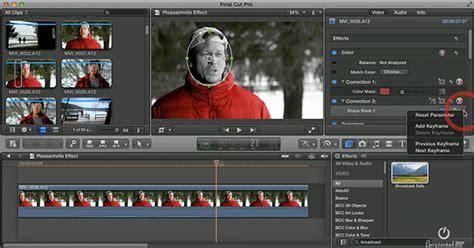 final cut pro black and white fcp x the pleasantville effect video larry jordan