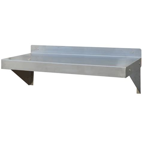 home depot wall shelving amerihome 36 in stainless steel wall shelf sswshelf36 the home depot