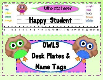printable owl desk tags 17 best images about name tags on pinterest name labels