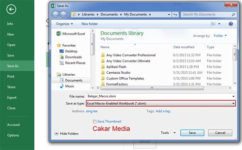 xlsm format apa membuat aplikasi form sederhana di ms excel 2013