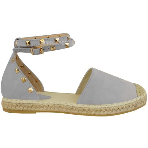 stud sandals womens espadrilles ankle strappy flat summer