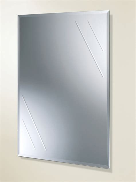 Hib Albina Rectangular Bevelled Edge Bathroom Mirror Rectangular Bathroom Mirror