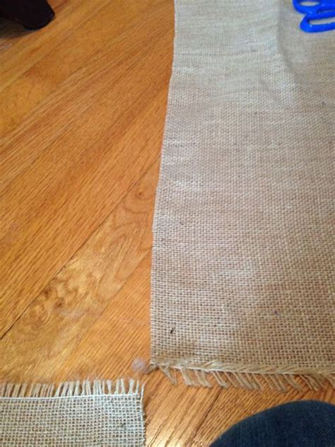 hometalk how to cut burlap and without fraying