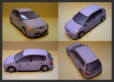Papercraft Honda - honda civic papercraftsquare free papercraft