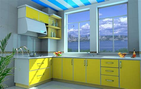 Lemari Dapur Kitchen Set lemari kitchen set dapur minimalis warna merah kuning