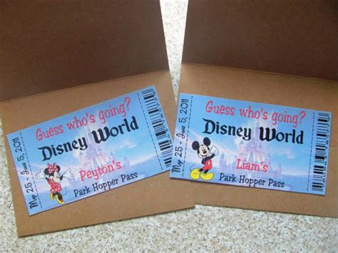printable pretend disney tickets disneyworld tickets from santa the dis disney discussion