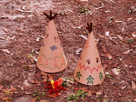How To Make Paper Teepees - paper teepee decorations for thanksgiving make and takes