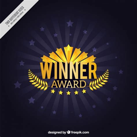 backdrop design competition winner award with laurel wreath background vector free