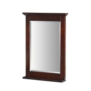 glenayre 33 in x 24 in framed wall mirror in