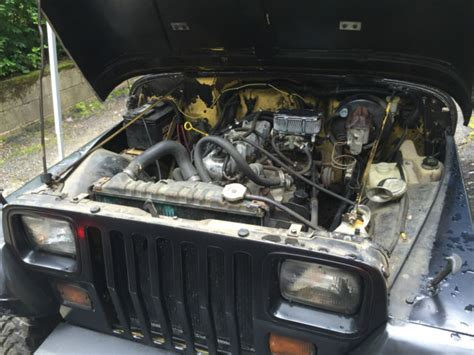 1989 Jeep Wrangler 2 5 Engine 1989 Jeep Wrangler Yj 5 Speed Manual 4 2l 6 Cyl Rust Free