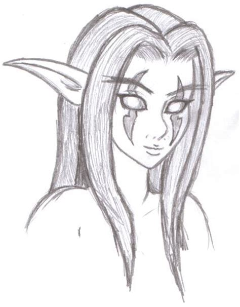 night elf by aeifs on deviantart
