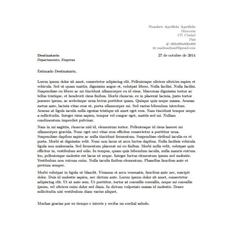 cover letter layout 6 cover letter templates free sle exle