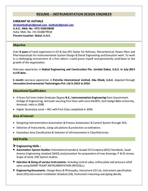 instrument design engineer resume resume ideas