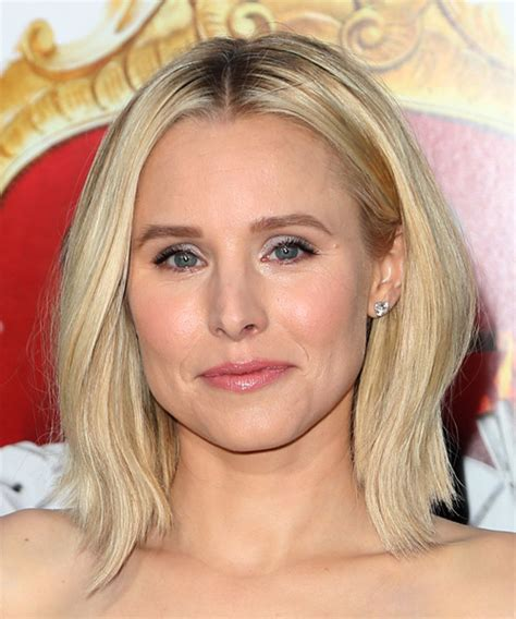 kristen bell medium straight cut edgy chic kristen bell kristen bell medium straight casual bob hairstyle light