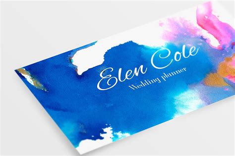 watercolor business card template free 26 creative business card psd templates