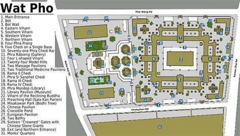 2 Level Floor Plans Map Of The Wat Pho Complex Picture Of Temple Of The