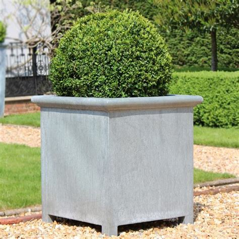 zinc planters a place in the garden