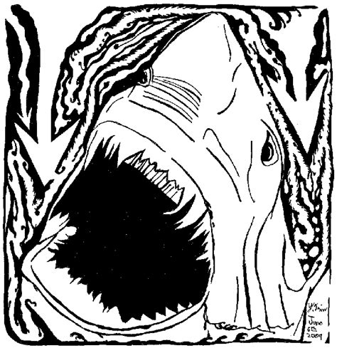 free jaws shark coloring pages