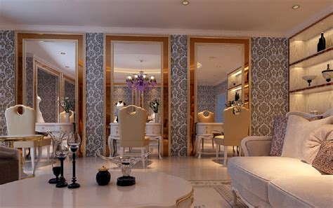 high end hair salon interior design