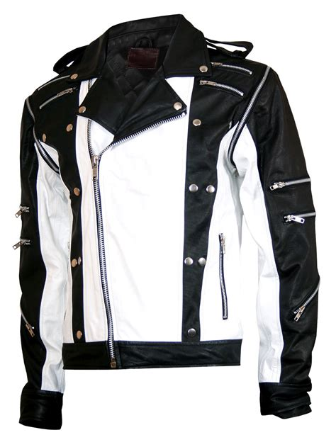 Jaket Oor mj pepsi black white michael jackson leather jacket i
