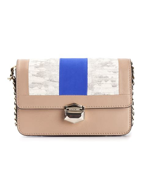 Matthew Williamsons Multi Coloured Embellished Shoulder Bag by Matthew Williamson Kahlo Shoulder Bag In Beige