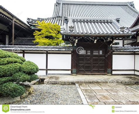 Traditional Japanese Temple Building Royalty Free Stock