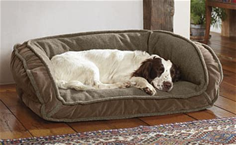 deep dish dog bed dog beds memory foam toughchew and bolster dog beds orvis uk