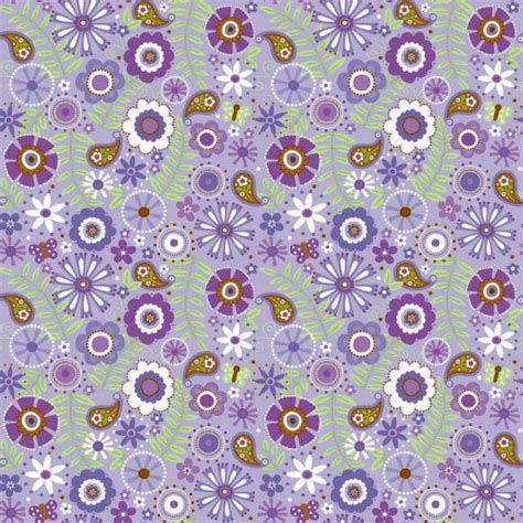 cotton flannel quilt fabric flowers purple