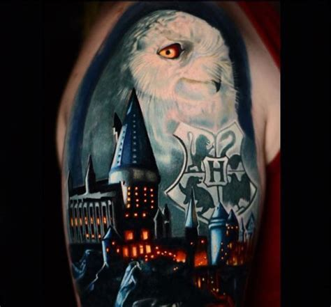 harry potter owl tattoo this stunning harry potter has taken nearly a year