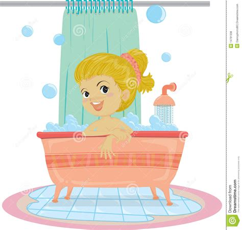 Takes A Shower by A Taking Bath Stock Vector Image Of Excited