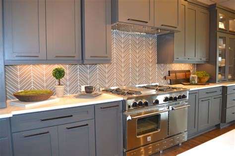 kitchen with glass tile backsplash glass tile backsplash chevron island