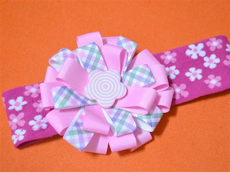 3 ways to make a ribbon hair bow with flowers wikihow