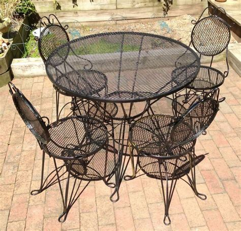 wrought iron table ls furniture images about vintage iron patio furniture on