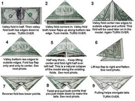 Origami Butterfly Dollar - origami make butterfly from a dollar bill